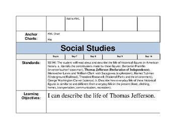 SS1H1 Social Studies Unit