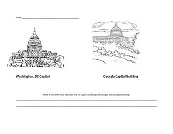 SS2CG4  Georgia Social Studies Government capital comparison