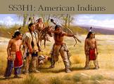 SS3H1 American Indians Inuit Kwakiutl Pawnee Hopi Nez Perce Seminole Iroquois