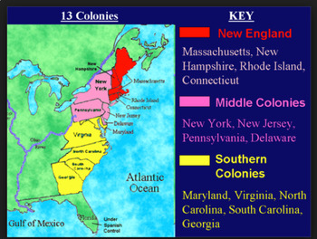 NEW GSE SS3H3 British Colonial 13 Colonies Unit Google Classroom