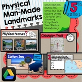 SS5G1 Physical & Man Made Features Slideshow and Map