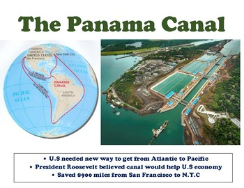 SS5H3 (c) The Panama Canal Anchor Chart and Instructional Handout