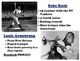 SS5H4 (b) Babe Ruth and Louis Armstrong Anchor Chart and Handout
