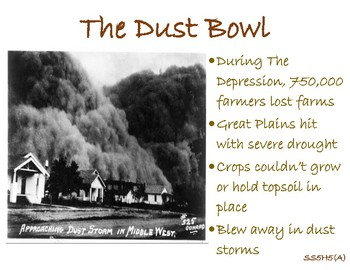 SS5H5 (a) The Dust Bowl Anchor Chart and Handout