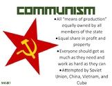 SS5H7 Communism Anchor chart and Handout