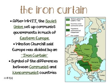 SS5H7(a) The Iron Curtain Anchor Chart and handout