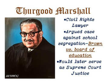 SS5H8(b) Thurgood Marshall Anchor Chart and handout