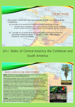 SS6G1 Latin America Geography PowerPoint