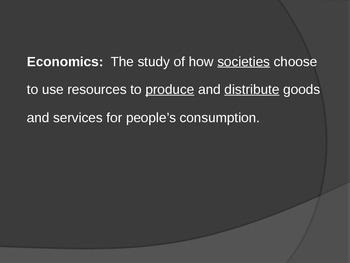 SS7E5: Types of Economies