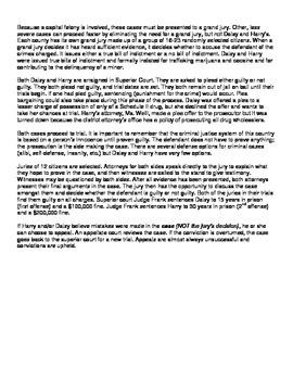 SS8CG4 Adult and Juvenile Criminal Justice Scenarios