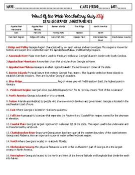 SS8G1 Vocabulary Quiz