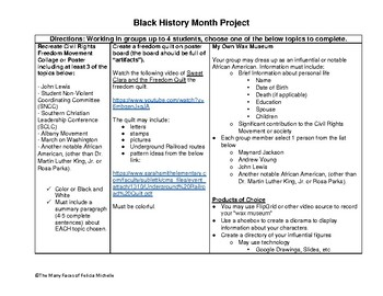 SS8H11-H12a Black History Project