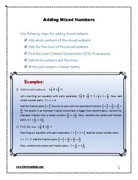 SSAT Lower Level Mathematics Prep: Adding Mixed Numbers