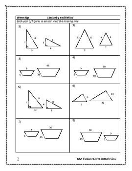 SSAT Upper Level Mathematics Prep: Similarity and Ratios