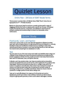 SAT Vocab Terms - Entire Year of Quizlet Sets - Common Cor