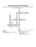 SSAT Vocabulary Workshop Day 2 Crossword