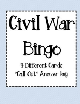 SSCivil War Bingo