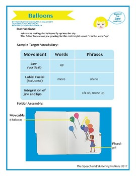 "SSI Folder Game ""Balloons"" (Speech Therapy)"