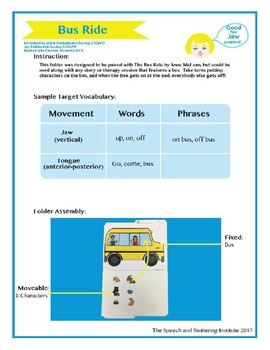 """SSI Folder Game """"Bus Ride"""" (Speech Therapy)"""