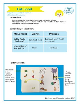 "SSI Folder Game ""Eat Food"" (Speech Therapy) FREE"