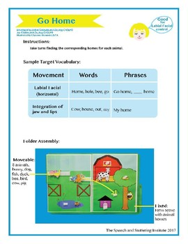 "SSI Folder Game ""Go Home"" (Speech Therapy)"