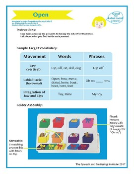 "SSI Folder Game ""Open"" (Speech Therapy)"