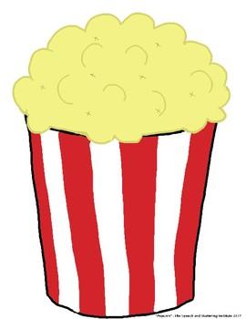 "SSI Folder Game ""Popcorn"" (Speech Therapy)"