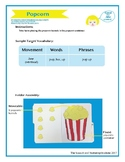 "SSI Folder Game ""Popcorn"" (Speech Therapy)"