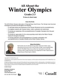 All About the 2018 Winter Olympics Grade 2-3  (eBook)