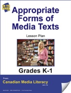 Appropriate Forms of Media Texts Lesson Plan Gr. K-1