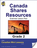 Canada Shares Resources Writing and Grammar Lesson Gr. 2