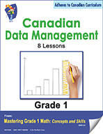 Canadian Data Management Lessons for Grade 1  (eBook)