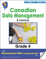 Canadian Data Management Lessons for Grade 4 (eBook)