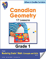 Canadian Geometry Lessons for Grade 1 (eBook)