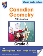 Canadian Geometry Lessons for Grade 3 (eBook)