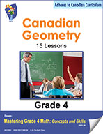 Canadian Geometry Lessons for Grade 4 (eBook)