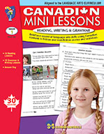 Canadian Mini Lessons - Reading, Writing, Grammar Grade 1 (ebook)