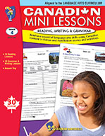 Canadian Mini Lessons - Reading, Writing, Grammar Grade 4 (enhanced ebook)