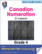 Canadian Numeration Lessons  for Grade 4 (eBook)