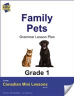 Family Pets Grammar Lesson Gr. 1