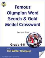 Famous Olympian Word Search and Gold Medal Crossword Gr. 4-8 Lesson Plans