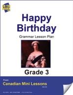 Happy Birthday! Writing and Grammar Lesson Gr. 3