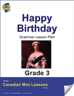 Happy Birthday! Writing and Grammar Lesson Gr. 3