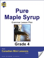 Pure Maple Syrup Writing and Grammar Lesson Gr. 4