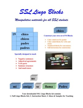 SSL Spanish Lingo Blocks