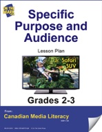 Specific Purpose and Audience Lesson Plan Gr. 2-3