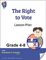 The Right to Vote Grades 4 to 8 (e-lesson plan)