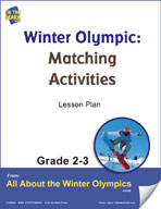 Winter Olympic Matching Activities Gr. 2-3 Lesson Plan