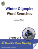 Winter Olympic Word Searches Gr. 2-3 Lesson Plan