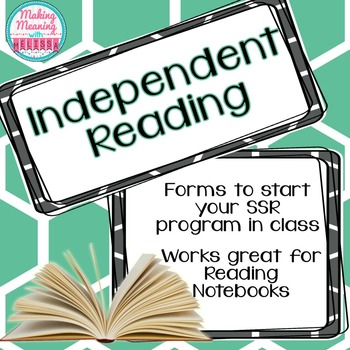 Independent Reading Forms, Reading Notebook, SSR, Secondary